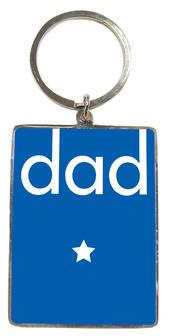 Dad Blue Metallic Keyring