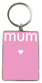 Mum Pink Metallic Keyring