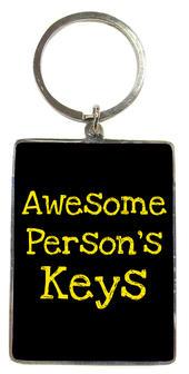 Awesome Person's Keys Metallic Keyring