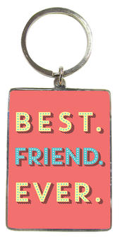 Best Friend Ever Metallic Keyring
