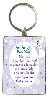 An Angel For You Metallic Heartwarmers Keyring