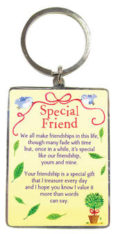 Special Friend Metallic Heartwarmers Keyring