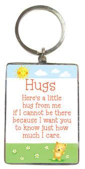 Hugs Metallic Heartwarmers Keyring
