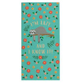 Sloth I'm Lazy & I Know It Chocolate Bar & Card In One