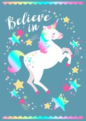 Believe In Unicorns Tea Towel