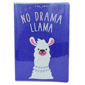 No Drama Llama Glitter Lined A5 Notebook