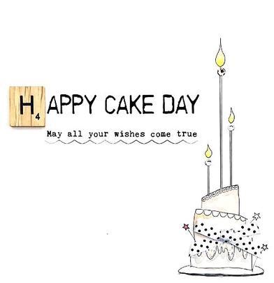 Birthday Happy Cake Day Bexyboo Scrabbley Neon Birthday Card