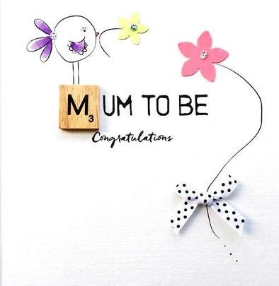 Mum To Be Bexyboo Scrabbley Neon Greeting Card