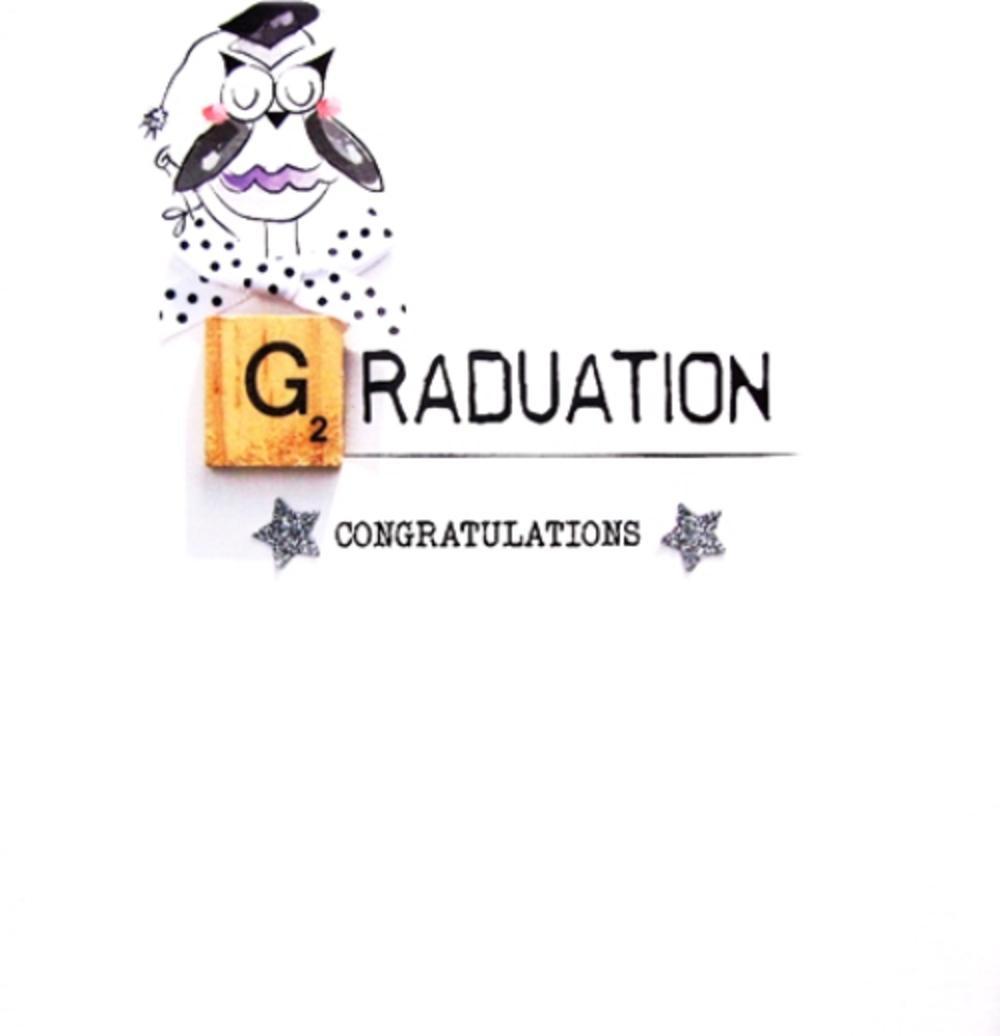 Graduation Congratulations Bexyboo Scrabbley Neon Greeting Card