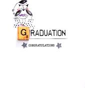 Graduation Congratulations Bexyboo Scrabbley Neon Greeting Card