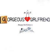 Gorgeous Girlfriend Birthday Bexyboo Scrabbley Neon Greeting Card