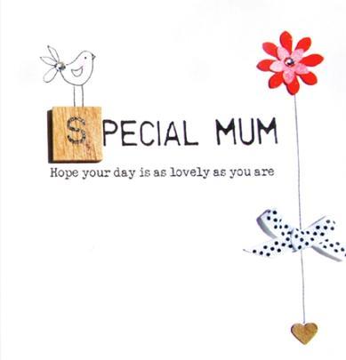 Special Mum Birthday Bexyboo Scrabbley Neon Greeting Card