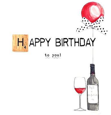 Happy Birthday Bexyboo Scrabbley Neon Greeting Card