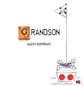 Grandson Birthday Bexyboo Scrabbley Neon Greeting Card
