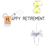 Happy Retirement Bexyboo Scrabbley Neon Greeting Card