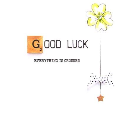 Good Luck Bexyboo Scrabbley Neon Greeting Card
