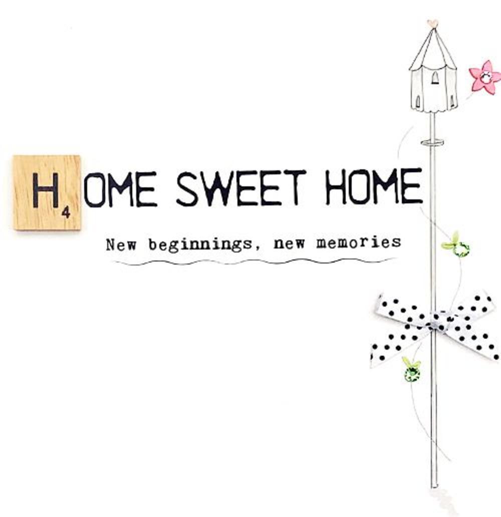 New Home Bexyboo Scrabbley Neon Birthday Card