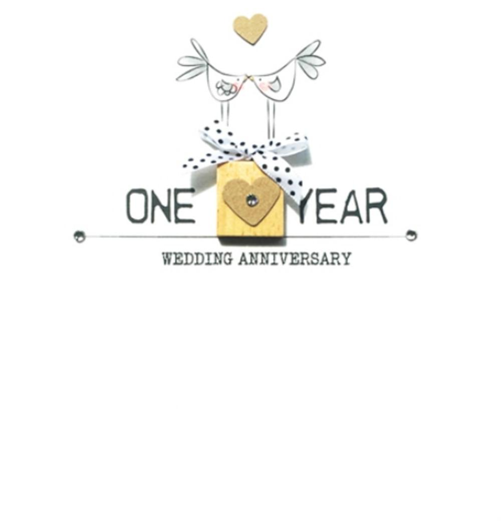 Happy 1st Anniversary Bexyboo Scrabbley Neon Greeting Card Cards