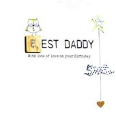 Best Daddy Birthday Bexyboo Scrabbley Neon Greeting Card