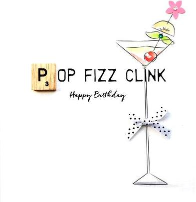 Birthday Fizz Bexyboo Scrabbley Neon Birthday Card