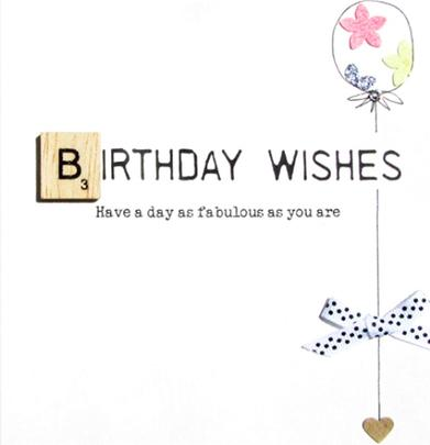 Birthday Wishes Bexyboo Scrabbley Neon Birthday Card