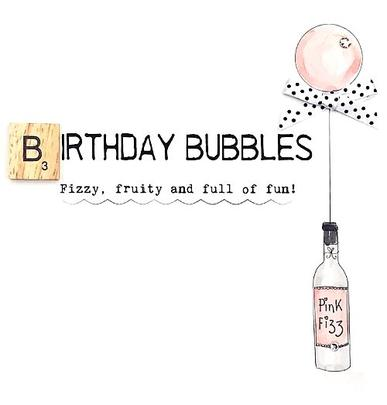 Birthday Bubbles Bexyboo Scrabbley Neon Birthday Card