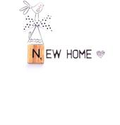 New Home Bexyboo Scrabbley Neon Greeting Card