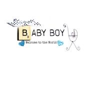 Baby Boy Bexyboo Scrabbley Neon Greeting Card