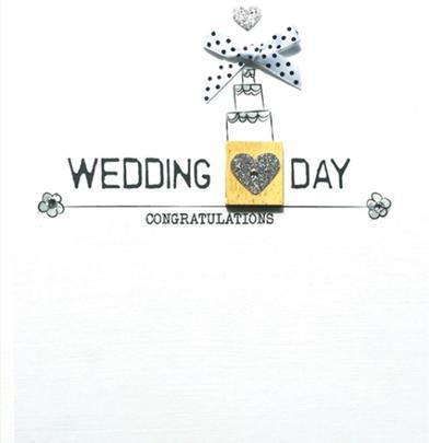 Wedding Congratulations Bexyboo Scrabbley Neon Greeting Card