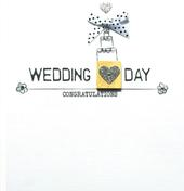 Wedding Congratulations Bexyboo Scrabbley Neon Greeting Card