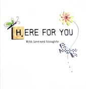Here For You Bexyboo Scrabbley Neon Greeting Card