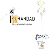 Grandad Birthday Bexyboo Scrabbley Neon Greeting Card