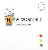 New Grandchild Bexyboo Scrabbley Neon Greeting Card