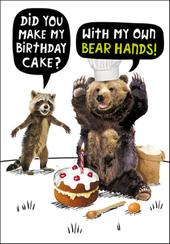 My Own Bear Hands! Birthday Funny Birthday Card