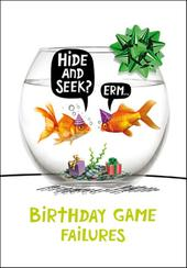 Goldfish Hide & Seek Birthday Funny Birthday Card
