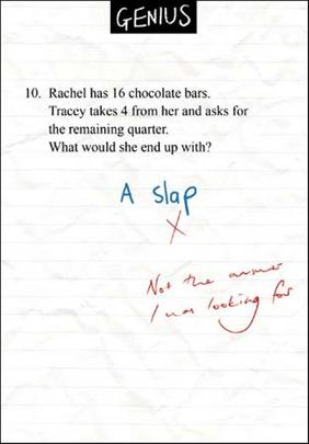Rachel Has 16 Choc Bars Genius Greeting Card