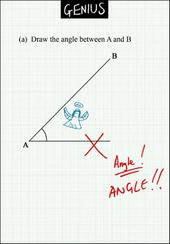 Draw The Angle Maths Genius Greeting Card