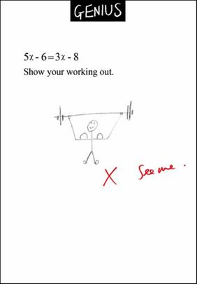 Show Your Working Out Genius Greeting Card