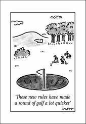 Golf Rules Funny Matt Greeting Card