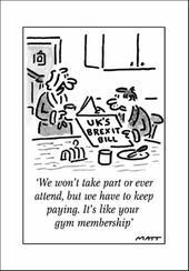 Brexit Bill Funny Matt Greeting Card