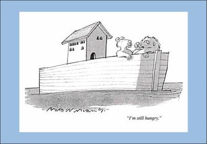 Noahs Ark Punch Cartoon Humour Greeting Card