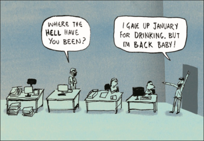Dry January Funny Berger & Wyse Card