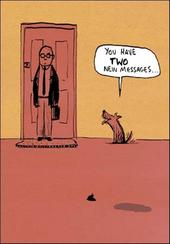 Two Messages Funny Berger & Wyse Card