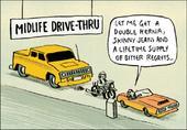 Midlife Drive-Thru Funny Berger & Wyse Card