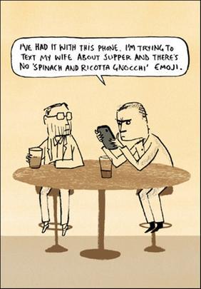 Text Emoji Funny Berger & Wyse Card