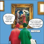 Bold Knight Irene & Gladys Funny Birthday Greeting Card
