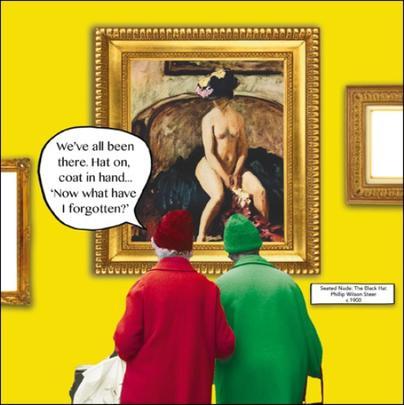 Hat & Coat Irene & Gladys Funny Birthday Greeting Card