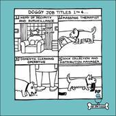 Dog Job Titles Cartoon Dog Humour Greeting Card