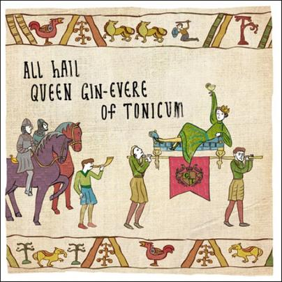 Queen Gin Of Tinicum Hysterical Heritage Greeting Card