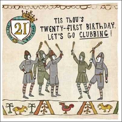 21st Birthday Hysterical Heritage Greeting Card